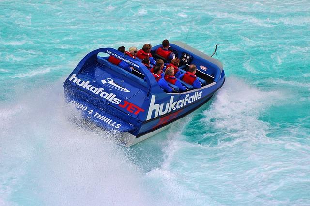 Jetboating Huka Falls New Zealand Sabbatår