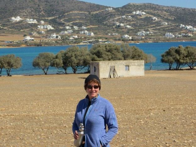 Laura at Despotiko Island
