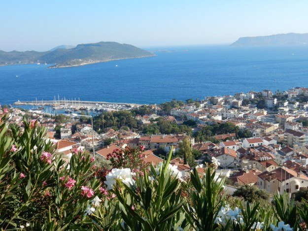 Looking southwest over  Kaş town and the town dock