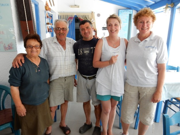 Antony's parents, Antony, Magdelena, and Laura