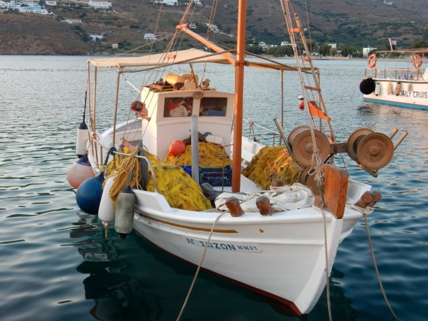 Fishing boat at Aigialis (Amorgos)