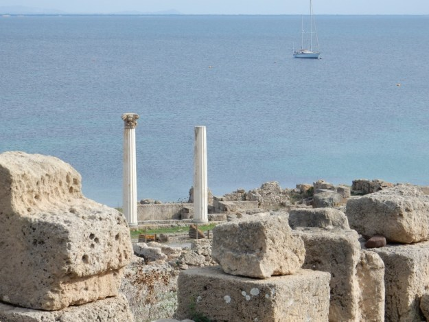 Ancient city of Tharros (Sabbatical III in background)