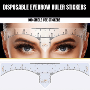 SabbyBeauty: Brow Rulers 100pcs