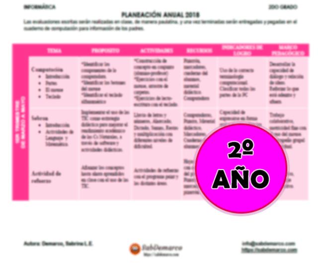 planificaciones de informatica para primaria en pdf