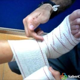 como hacer un vendaje de espiga