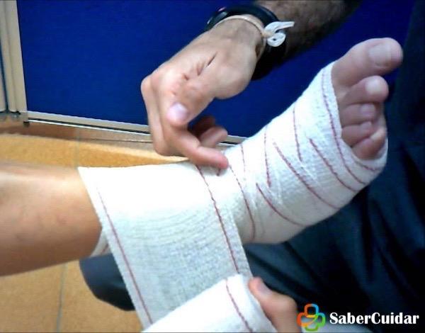 como hacer vendaje en espiga