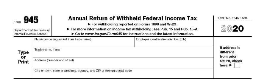 Form 945