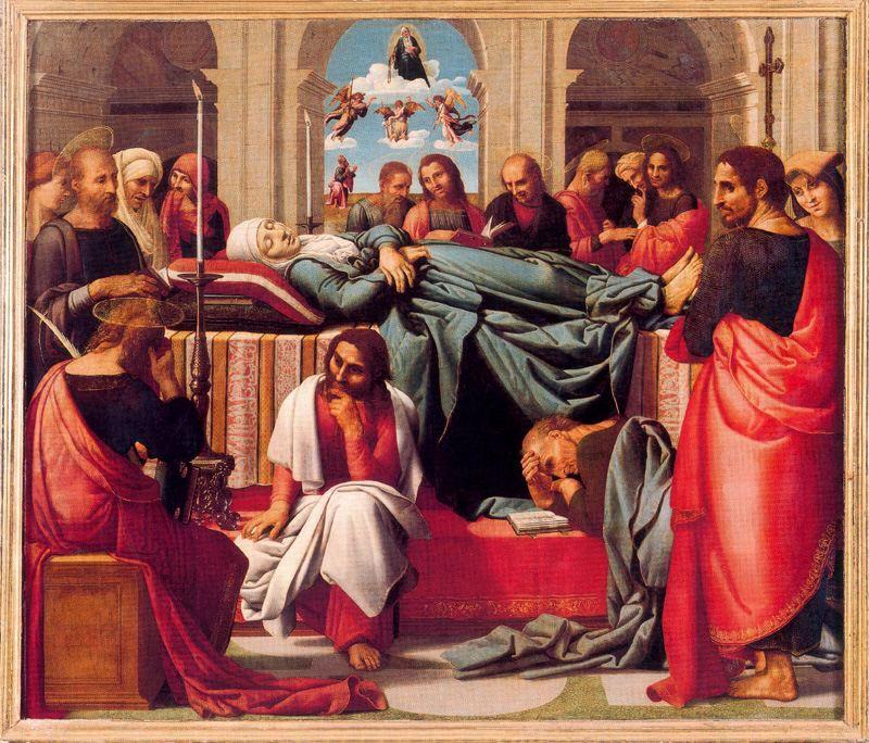 Tránsito de la Virgen. Puertas del retablo mayor de la catedral de Valencia.