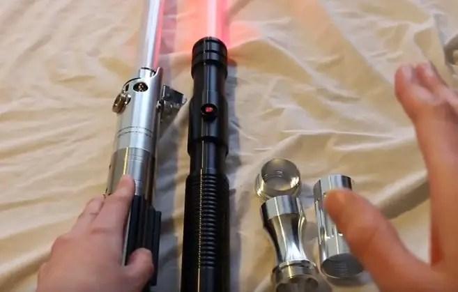 Force FX lightsaber, Ultrasabers lightsaber, MHS parts