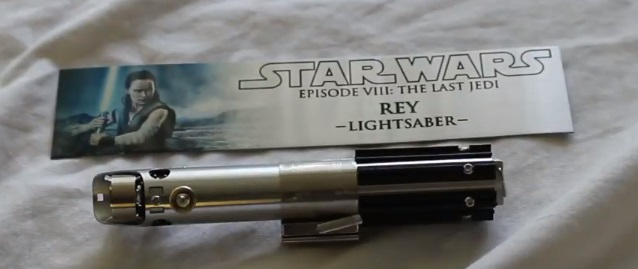 Rey lightsaber display plaque