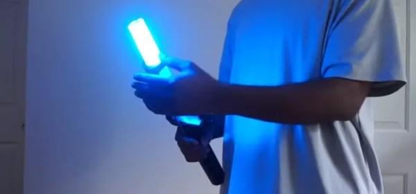 Saber Scroll Tri Guard Retractable Lightsaber