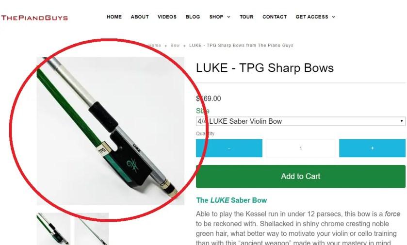 The Piano Guys Luke TPG Sharp Bow