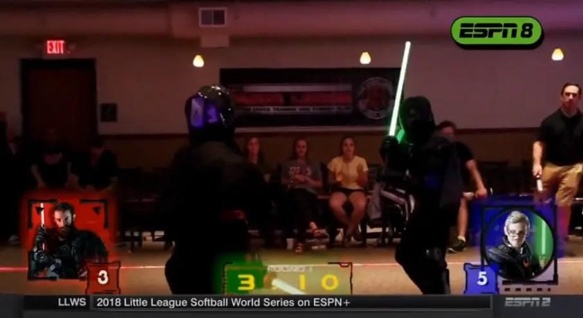 The Saber Legion lightsaber fights