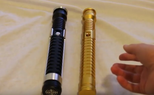 Saberforge Guardian lightsaber and One Replicas SSQy lightsaber