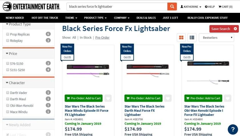 Hasbro new Force FX lightsabers