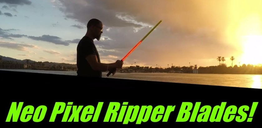 neopixel Ripper Blades lightsaber blades