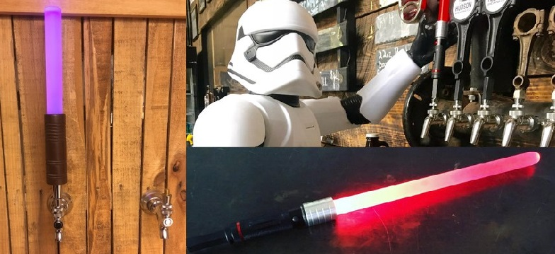 Finding Lightsaber Beer Tap Handles on Etsy