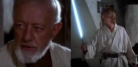 Obi-Wan Kenobi and Luke Skywalker
