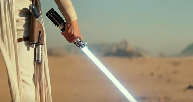 Rey lightsaber (repaired Graflex)