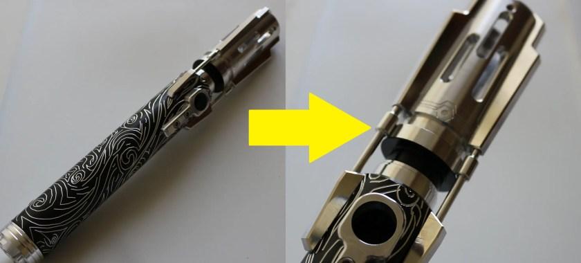 lightsaber blade socket