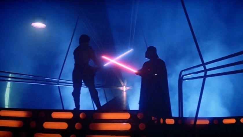 Luke Skywalker vs Darth Vader lightsaber duel