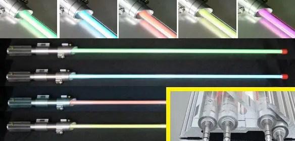 Electroluminescent (EL) lightsaber blade