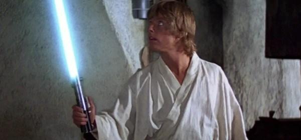 Luke Skywalker with a lightsaber