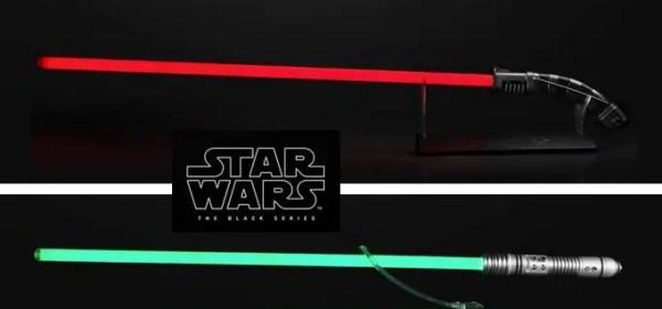 Asajj Ventress and Kit Fisto Force FX lightsaber