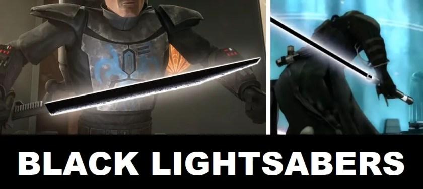 black lightsaber blade