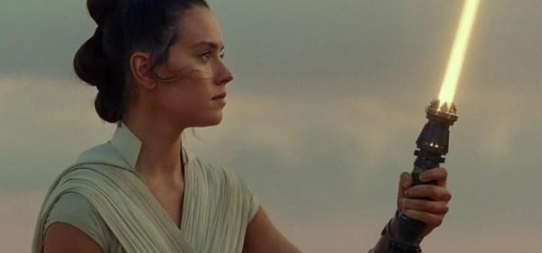 "Rey Skywalker lightsaber with a ""white gold"" blade"