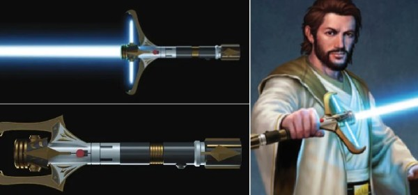 Stellan Gios lightsaber (folding crossguard lightsaber)