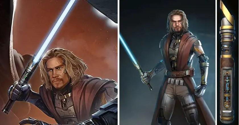 Arn Peralun and the Arn Peralun lightsaber