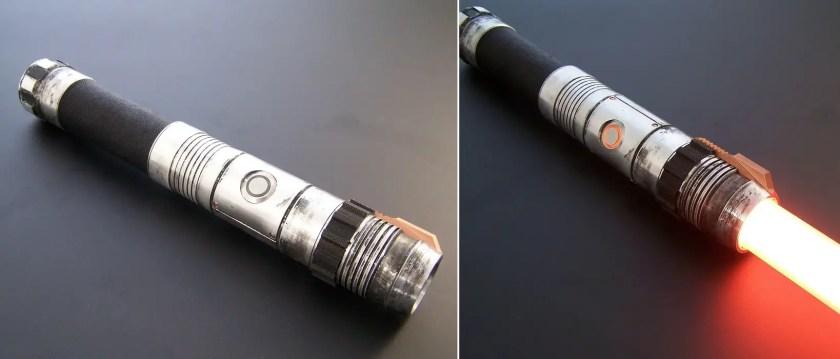 Vader's Vault Ember lightsaber
