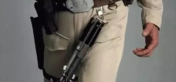 belt hanger lightsaber on belt