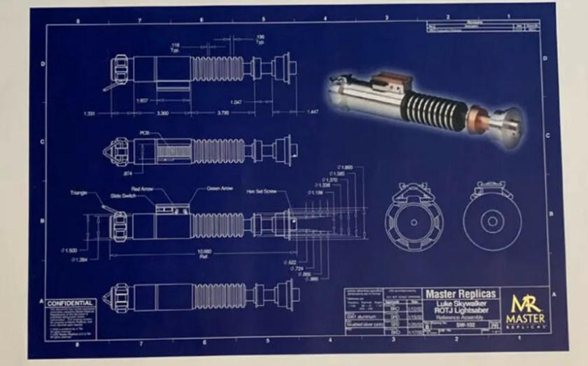 Master Replicas lightsaber blueprints