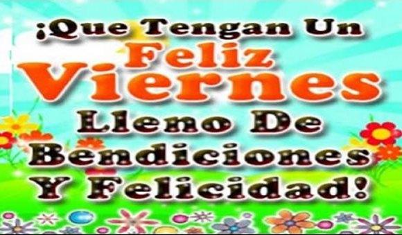 Feliz viernes, lleno de bendiciones