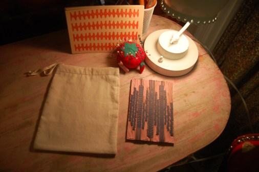 fabric and printing block