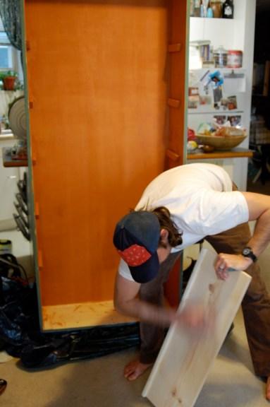 john sanding shelves