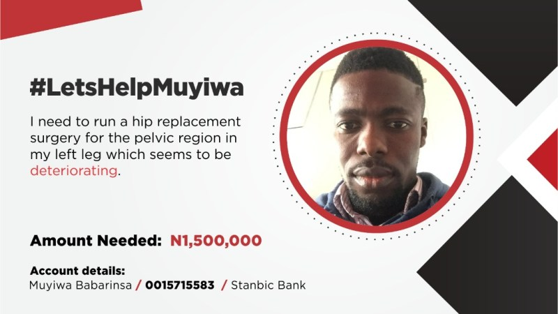 MUYIWA: HELP STOP THE PAIN PLEASE.