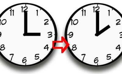 La fecha cuando será el cambio de hora del otoño