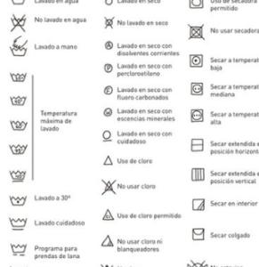 El significado de los símbolos de lavado en la ropa