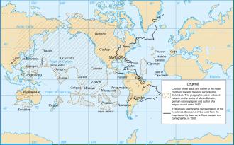 Adaptación del mapamundi de Toscanelli realizada por Colón.