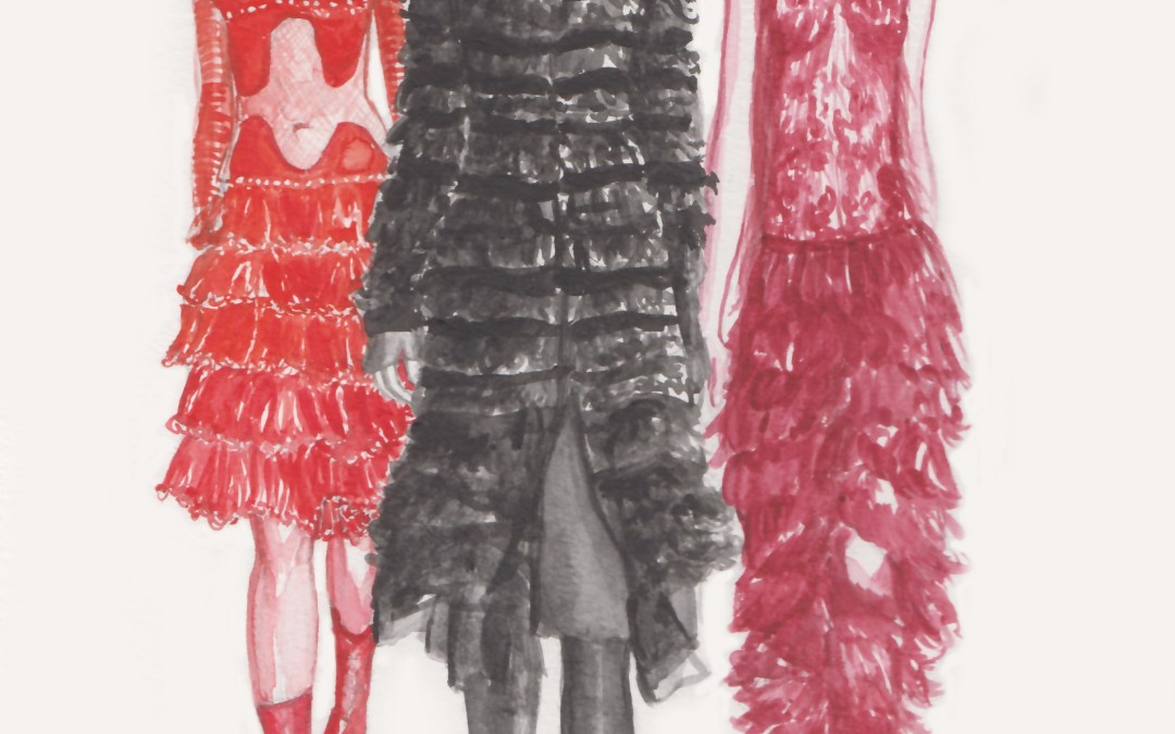 Alexander McQueen Fall 2015 looks from New York Fashion Week
