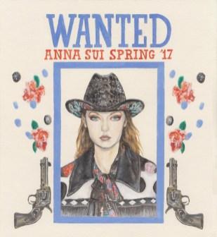 Anna Sui WANTED illo