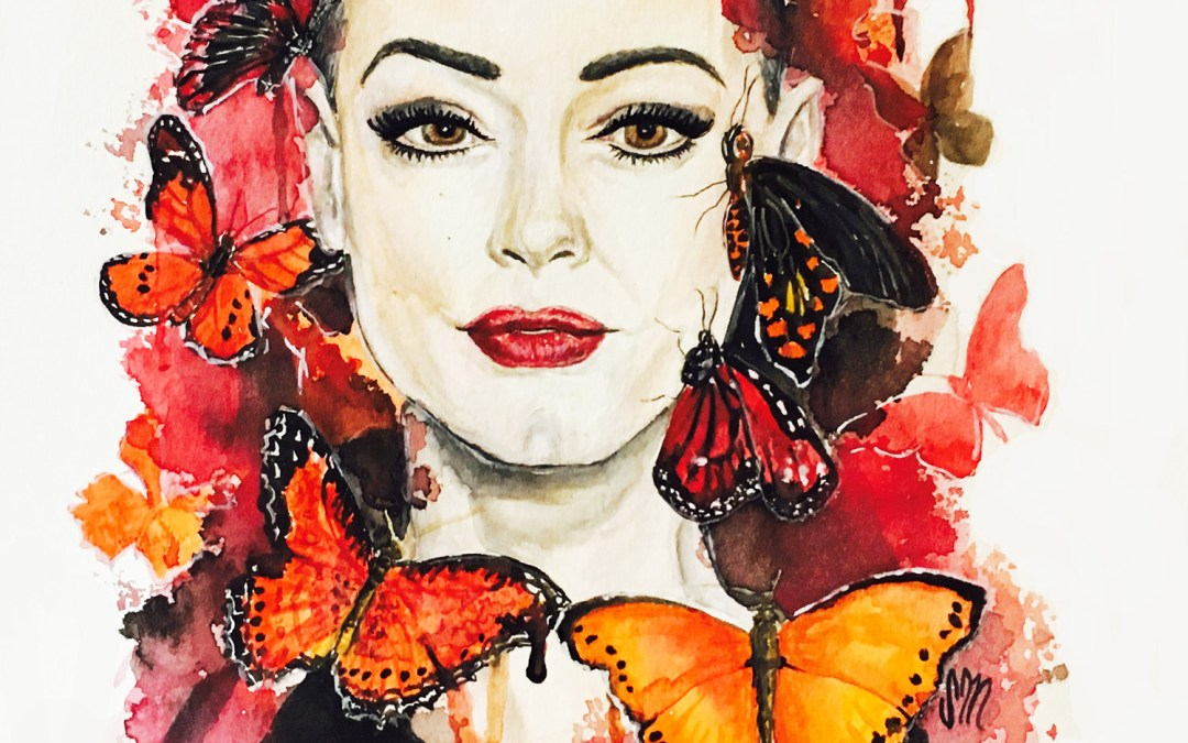 Be Free, Butterflies (Portrait of Rose McGowan)
