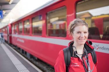 Francesca Macoratti Guida Turistica trenino rosso del Bernina