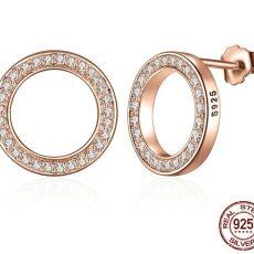Cercei Celebration din argint placat cu aur Roz, rotunzi