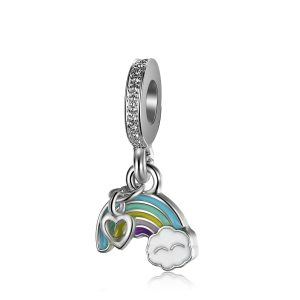 Charm Rainbow of Love placat cu argint