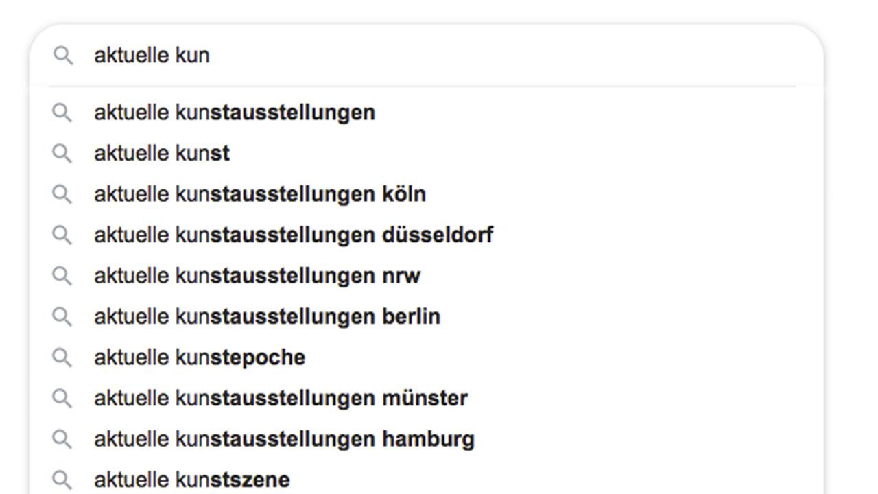 google suche aktuelle Kunst symmbolbild