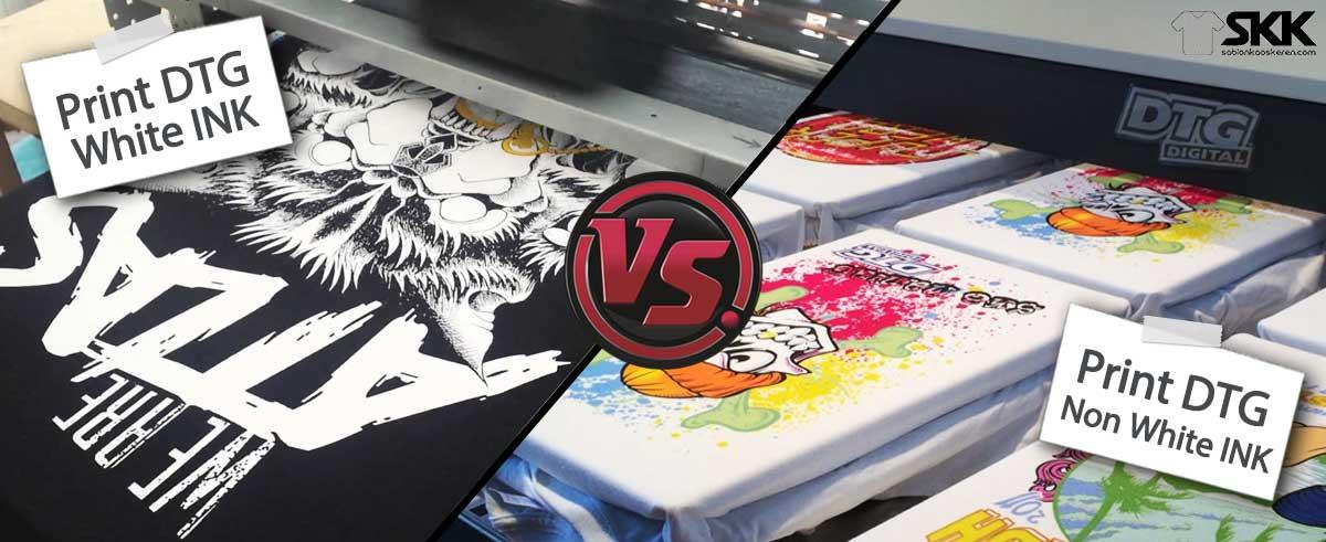 print kaos dtg tinta putih